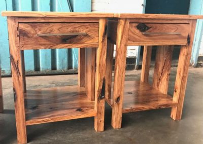 rustic bedside tables